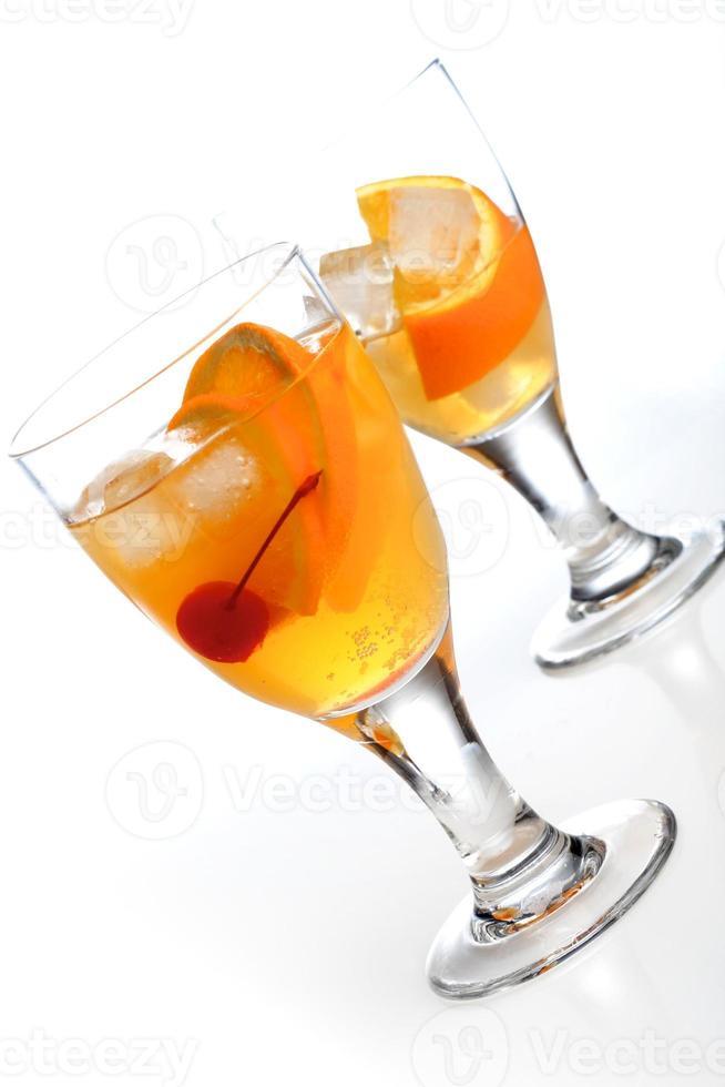 Studioaufnahme von zwei Getränken foto