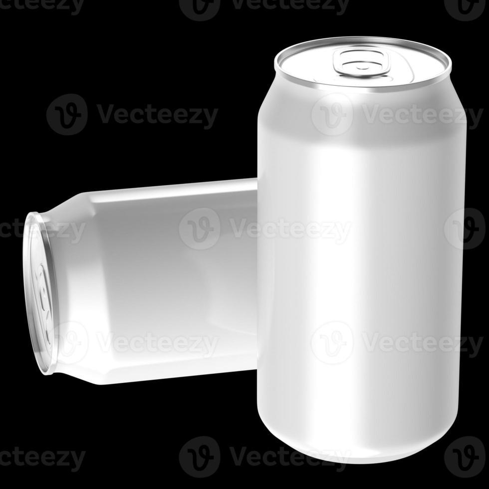 zwei weiße Getränkedosen. foto