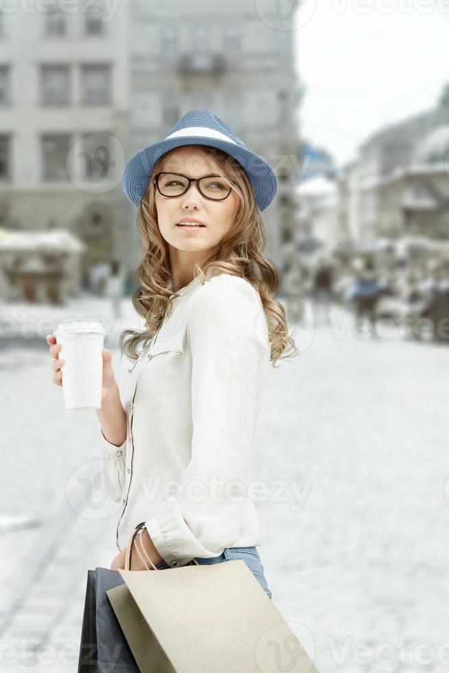 Entspannen Sie sich bei einem Kaffee. foto