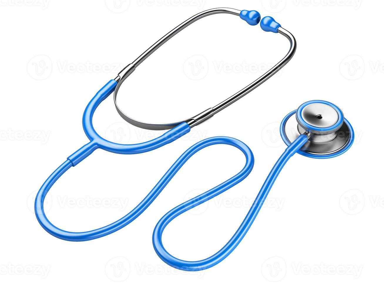 blaues Stethoskop foto