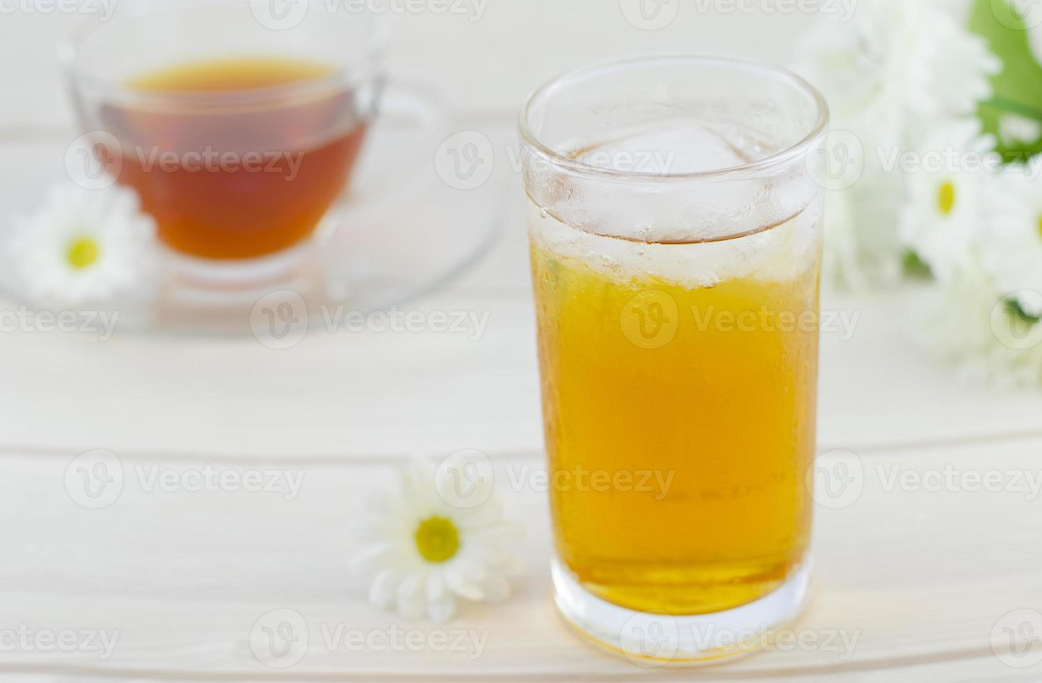 Eistee, kühles Getränk foto