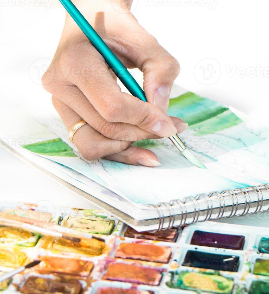 Künstler bei der Arbeit foto