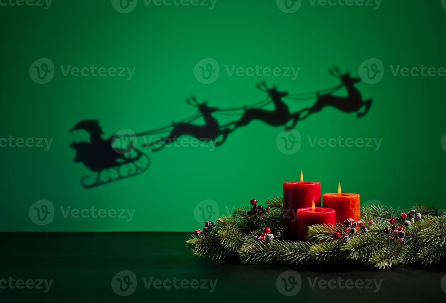 Weihnachtsmann Schlitten foto