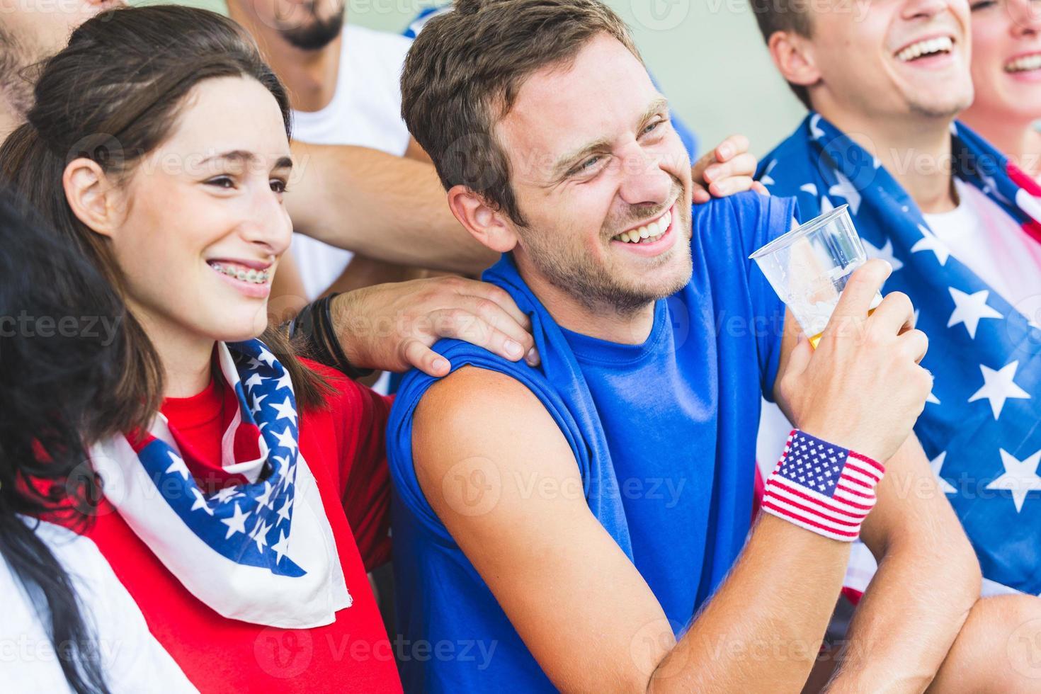amerikanische Anhänger im Stadion foto