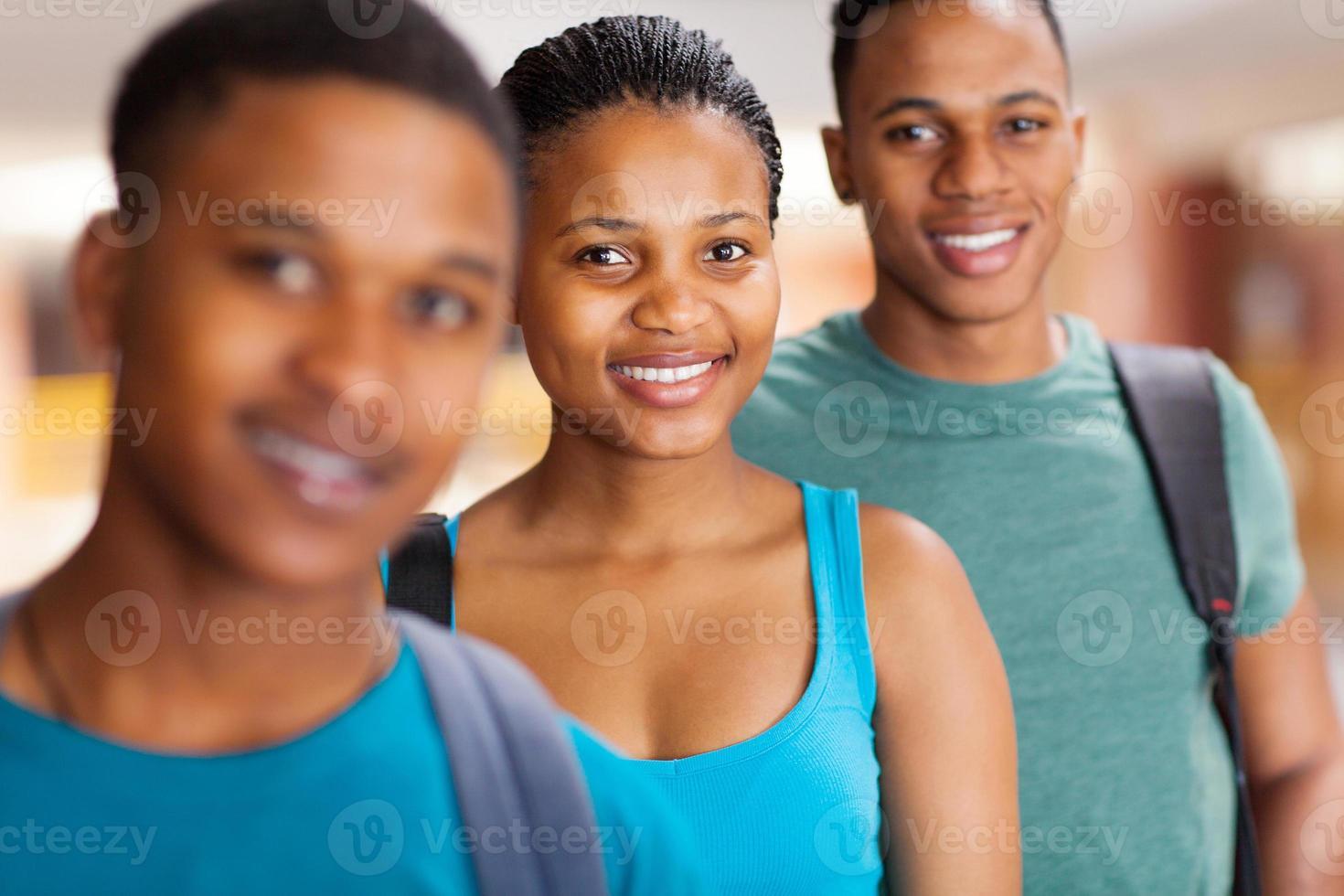 Gruppe afroamerikanischer Universitätsstudenten foto