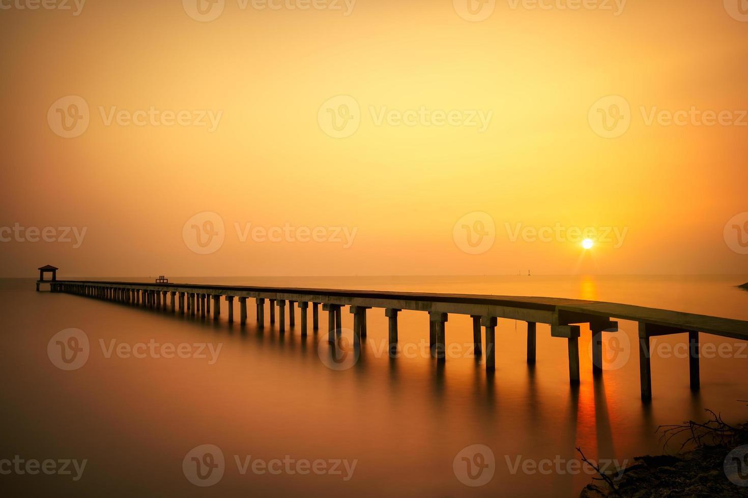 bewaldete Brücke foto