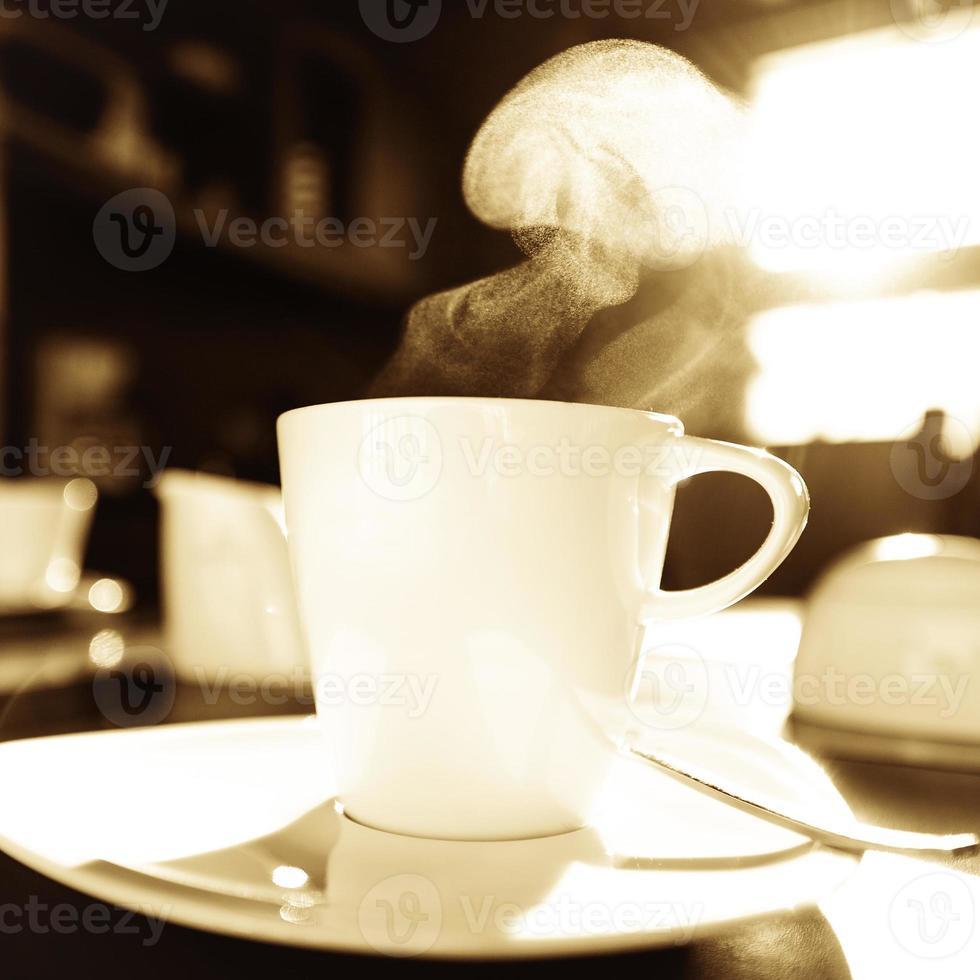 dampfende Tasse foto