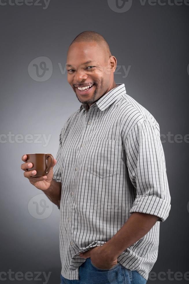 fröhliche Kaffeepause foto