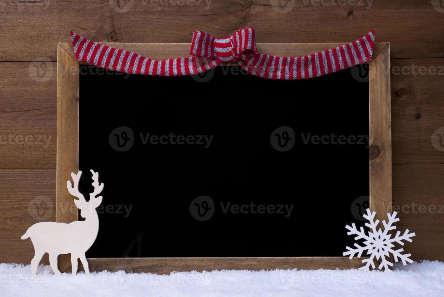 Weihnachtstafel, Schneeflocke, Rentier, Kopierraum, Schnee foto