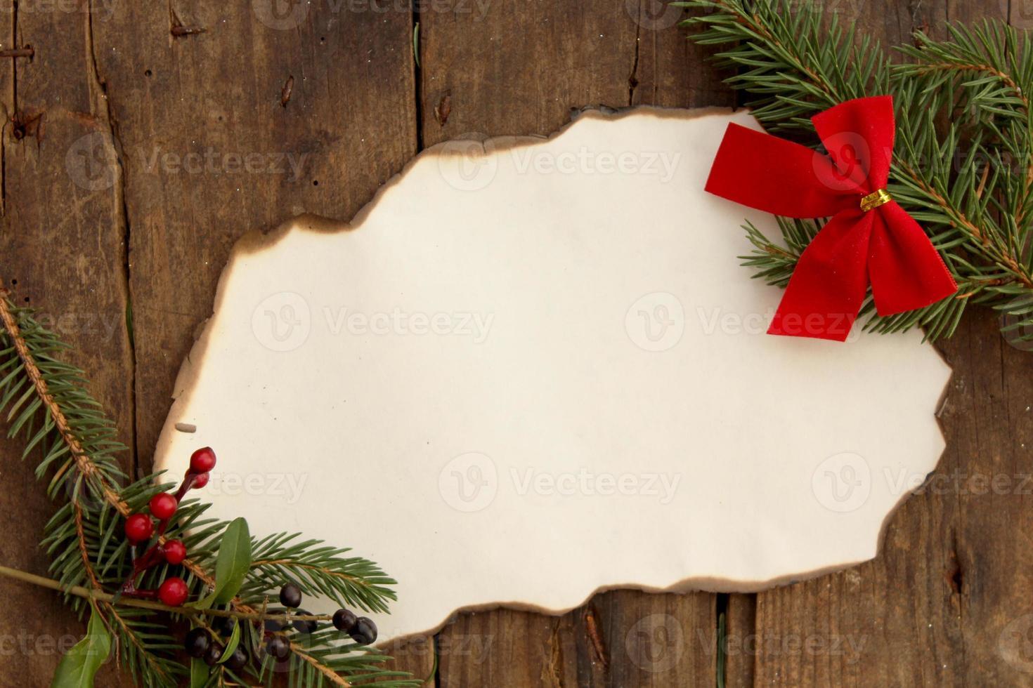 Weihnachtshintergrund mit Papierband - Kopierraum für Text foto