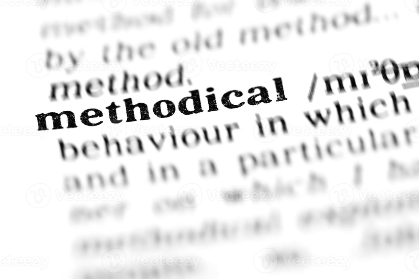 methodisch (das Wörterbuchprojekt) foto