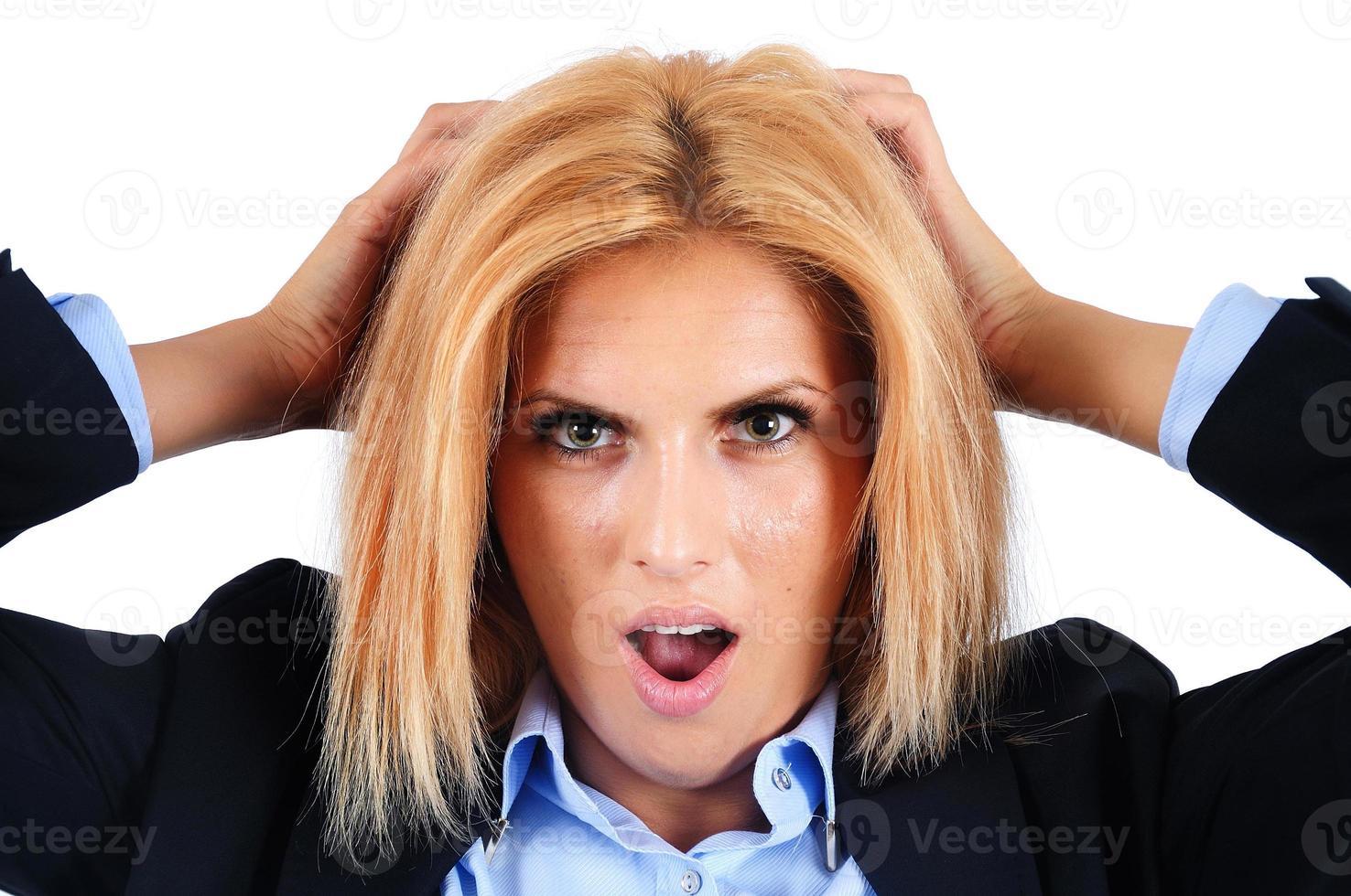 isolierte Geschäftsfrau foto