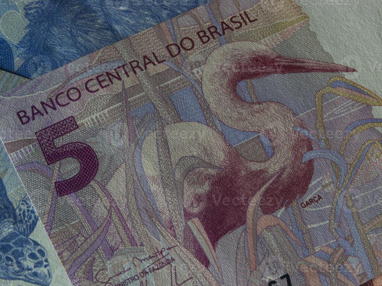 brasilianische Währung schließen foto