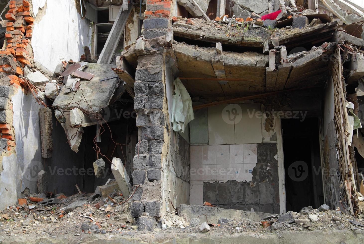Nahaufnahme von Ruinen foto