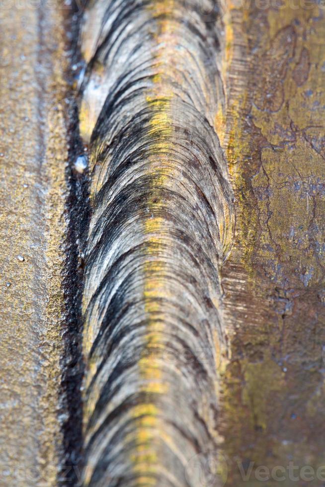 Stahlschweißnaht hautnah foto