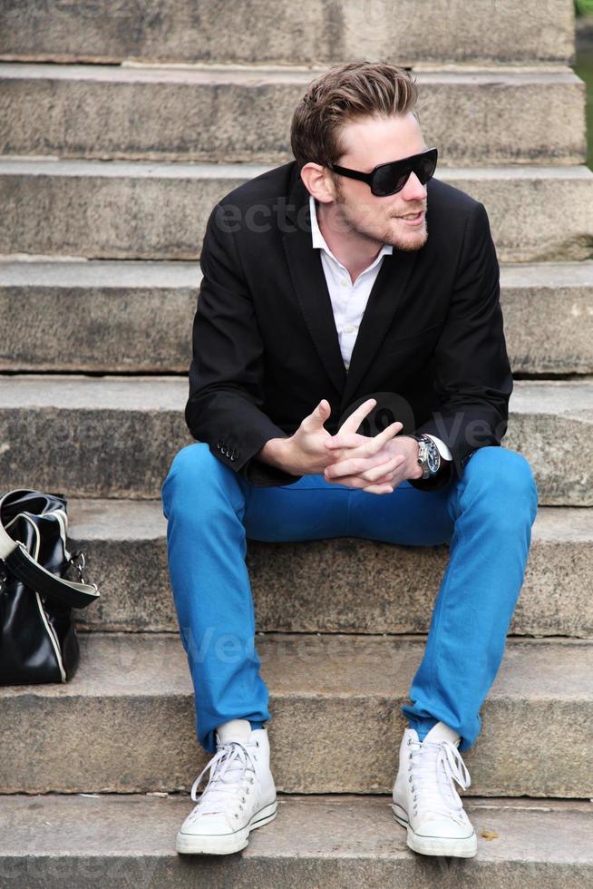 Entspannen auf den Stufen foto