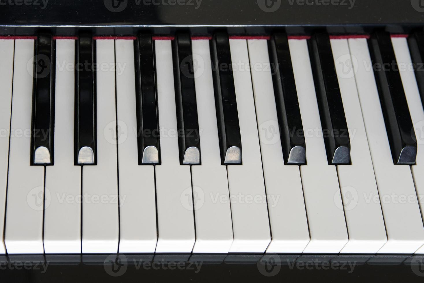 Nahaufnahme Klaviertasten. foto