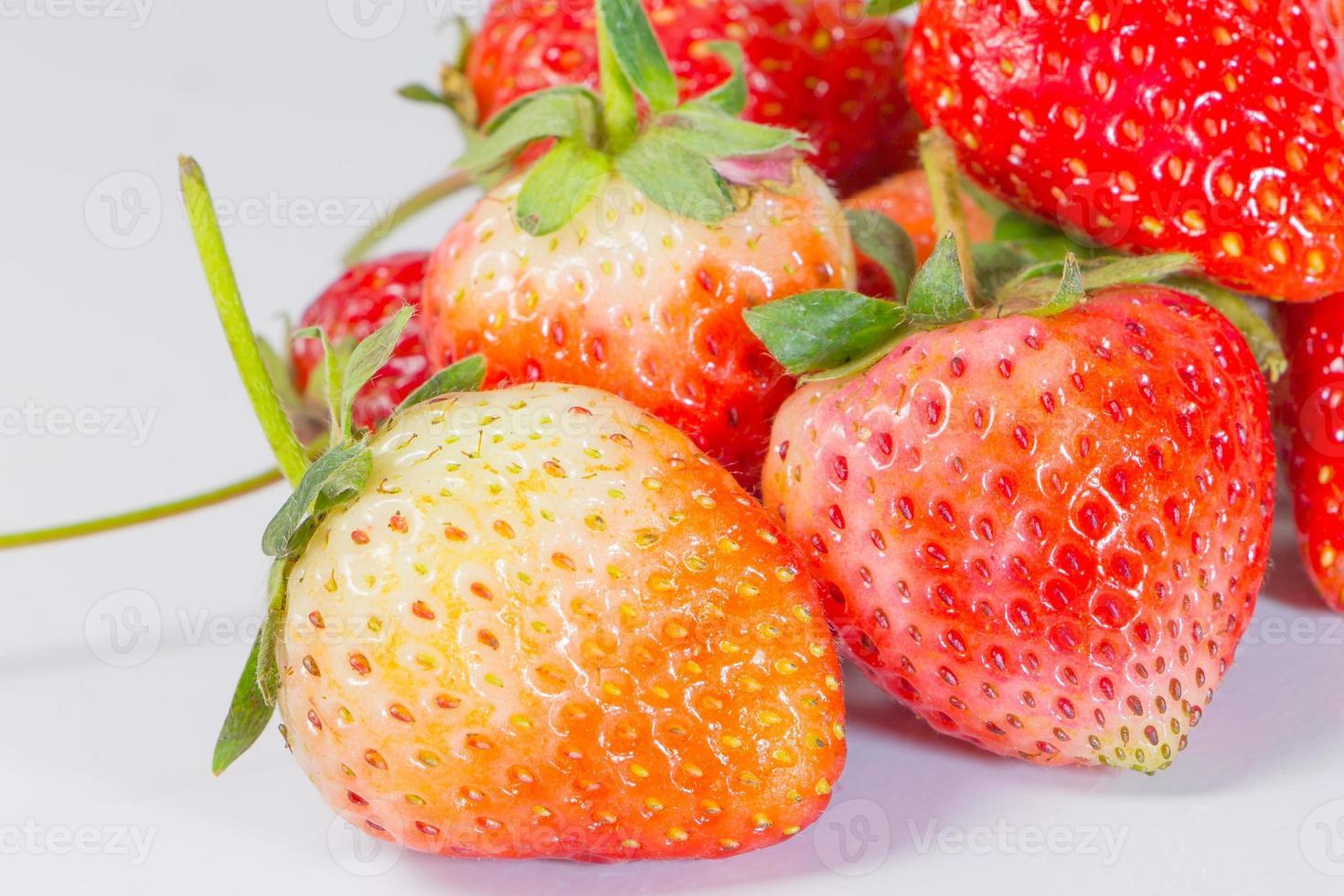 schließen Sie frische Erdbeere foto