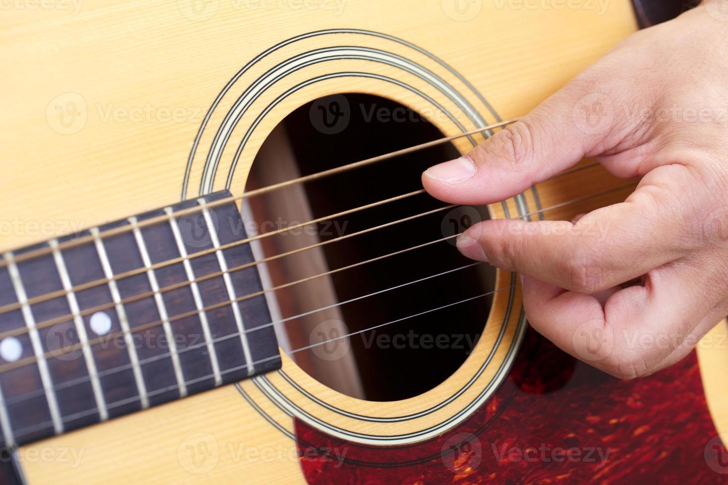 Gitarre hautnah foto