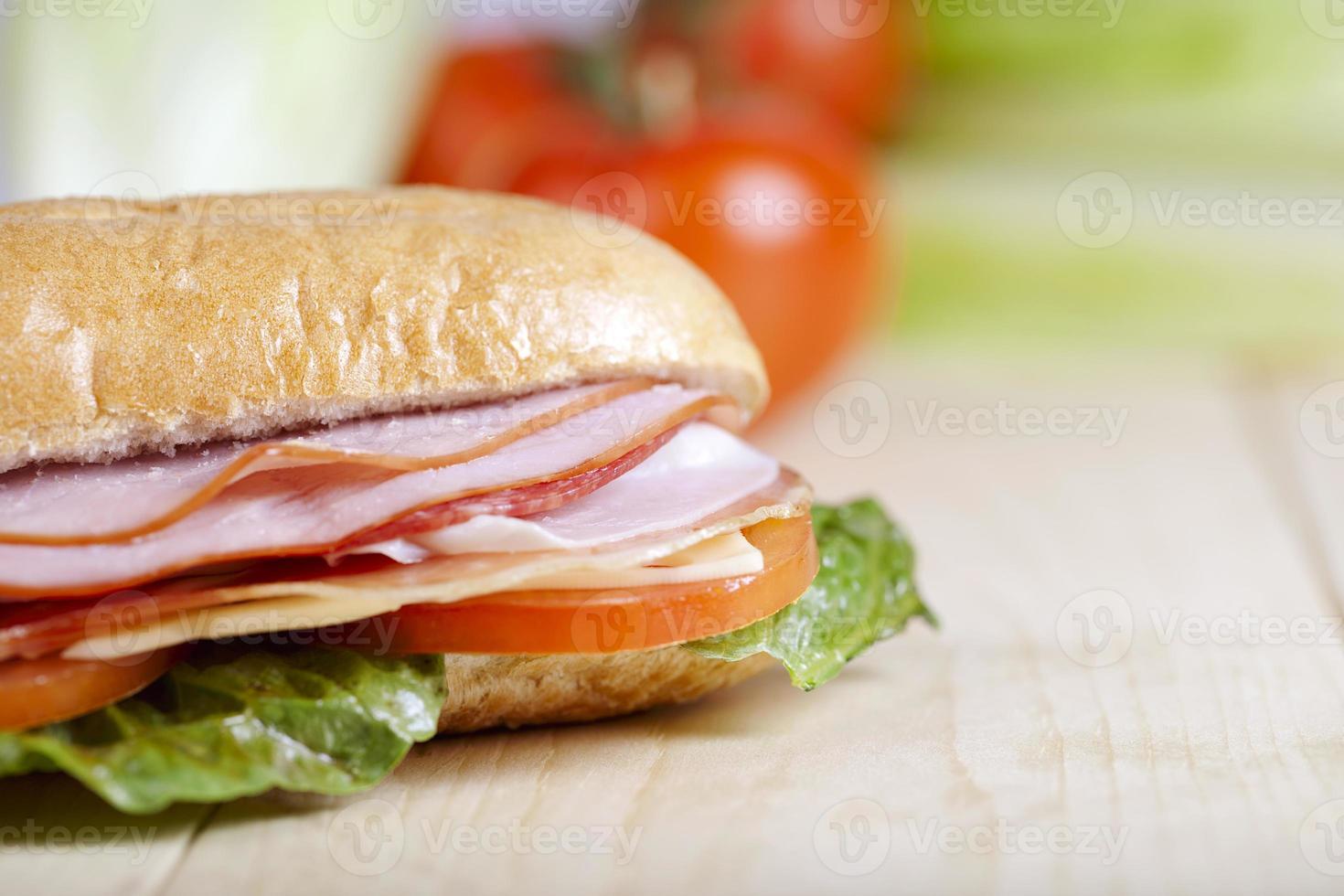 Sandwich auf Nahaufnahme foto