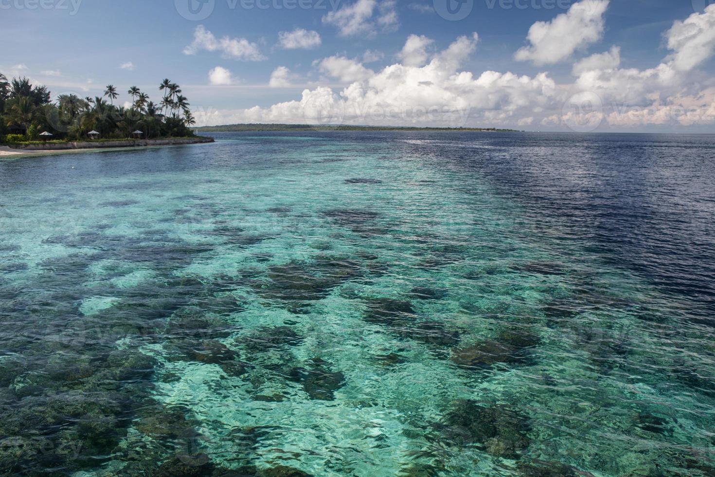 indonesisches Riff und Dropoff foto