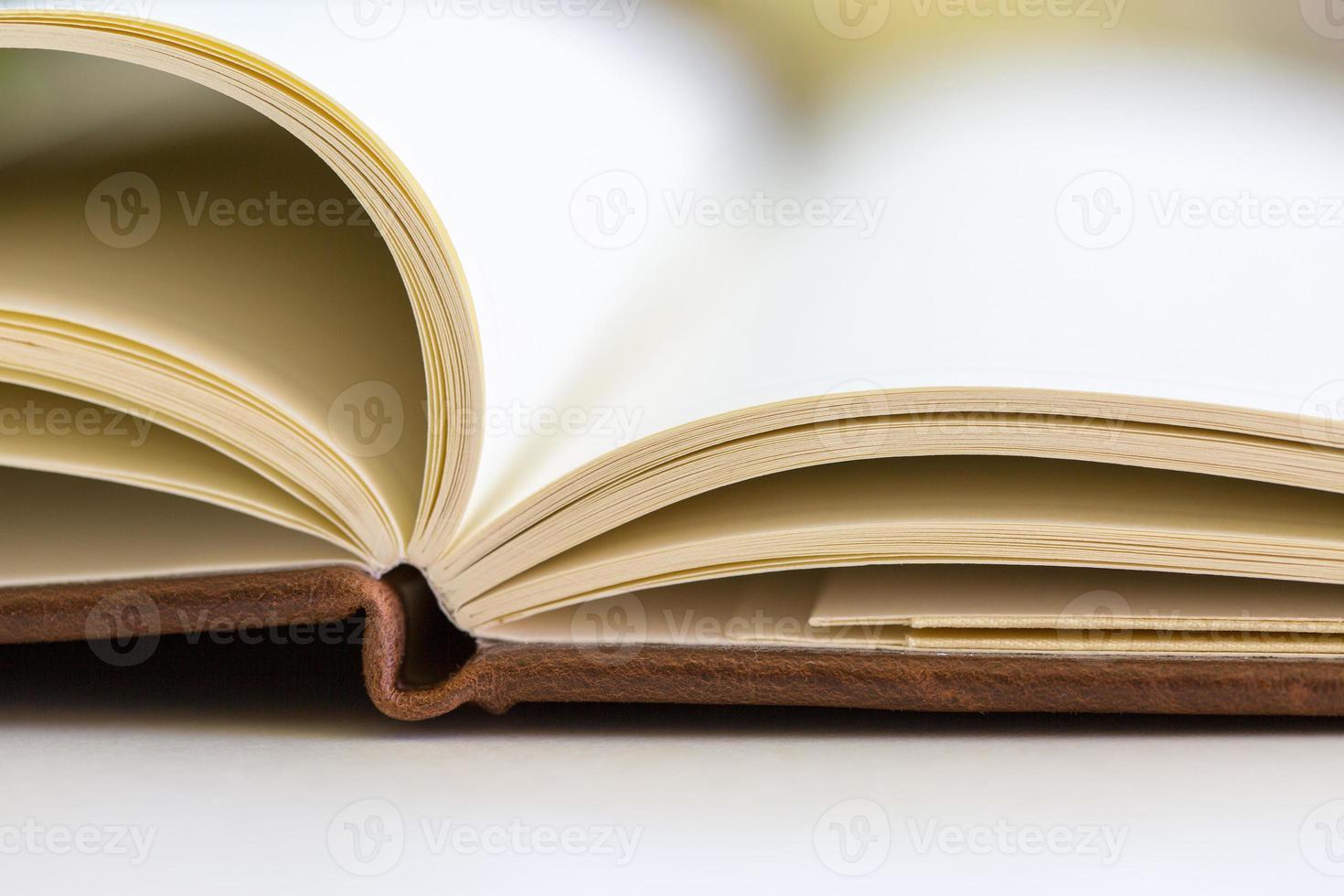Nahaufnahme auf offenen Buchseiten foto