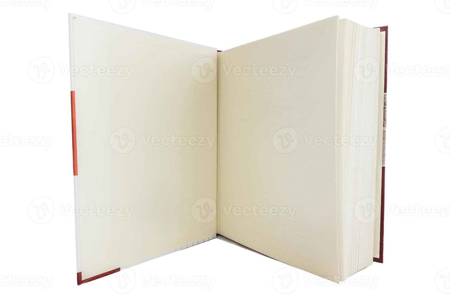 leeres weißes Buch foto