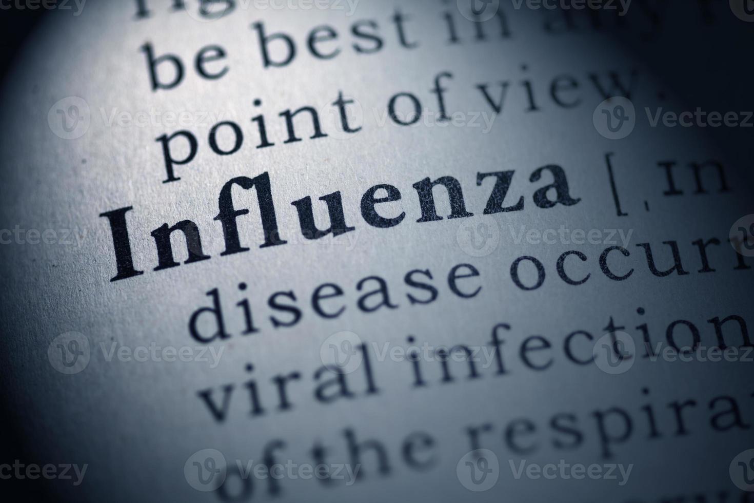 Grippe und Influenza foto