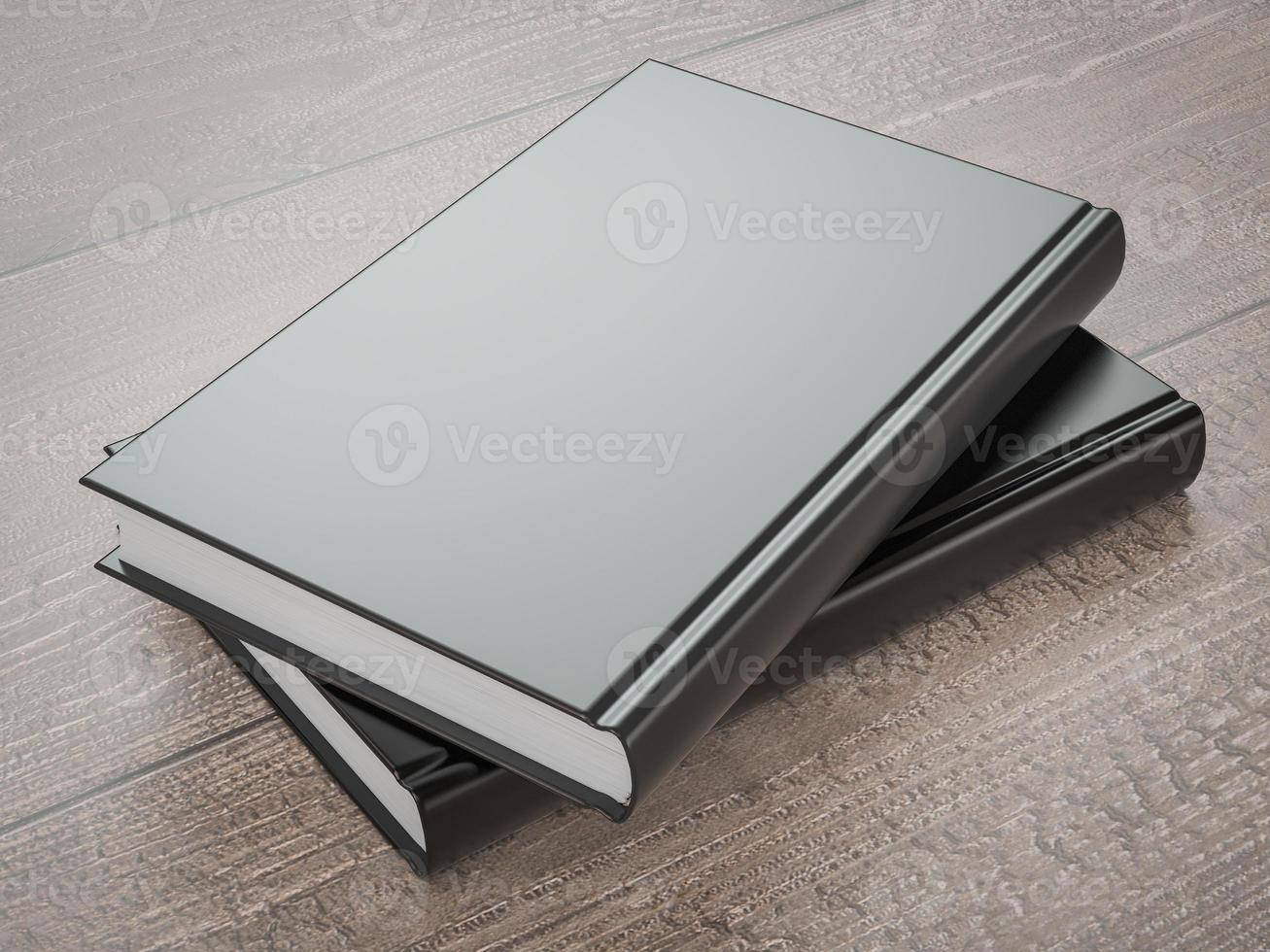 Modell des Buches mit einem schwarzen Umschlag foto