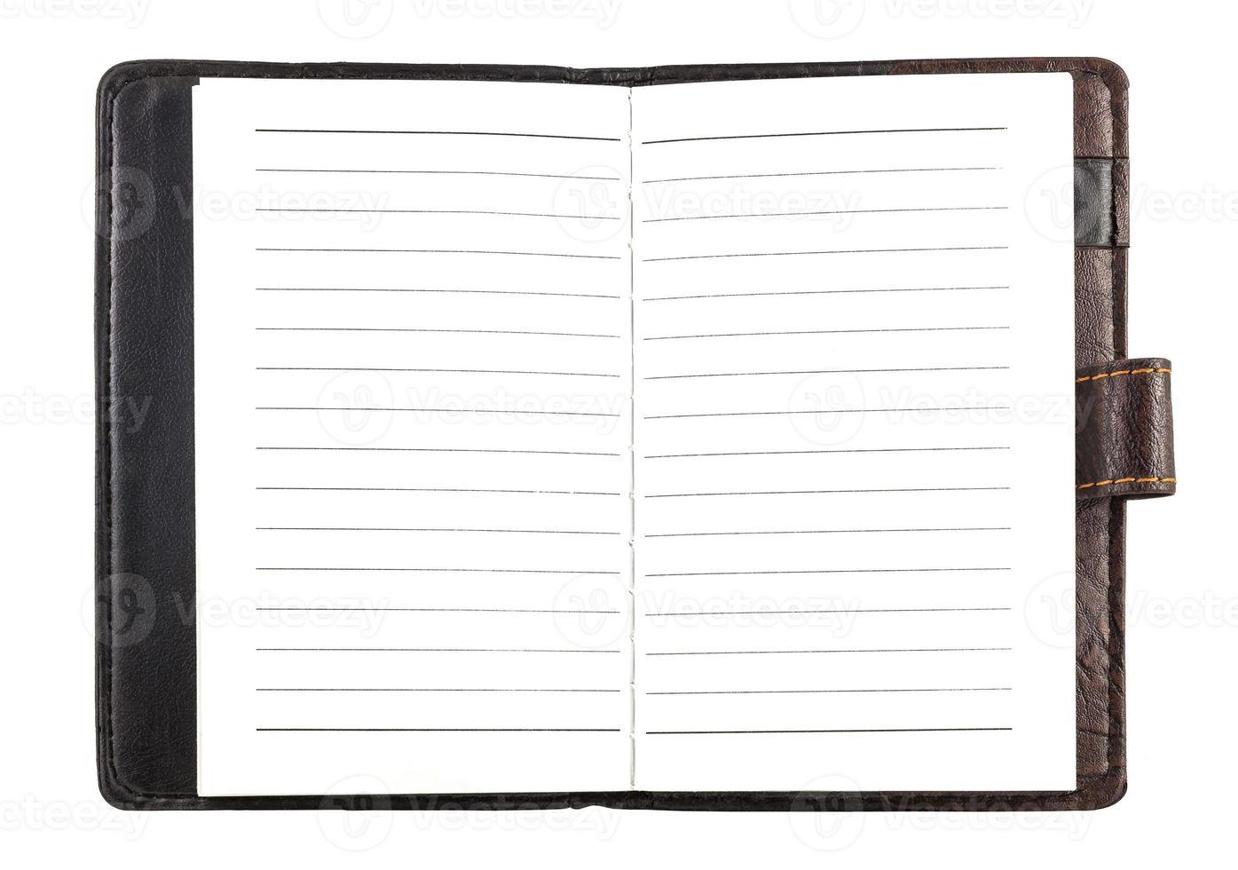 Notizbuch aus Papier foto