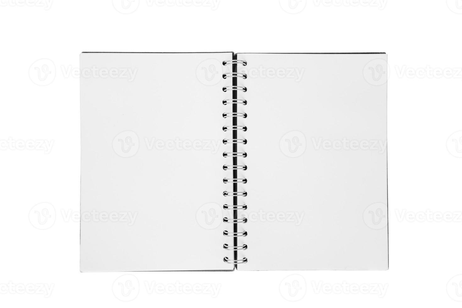 offenes Buch auf weißem Hintergrund foto