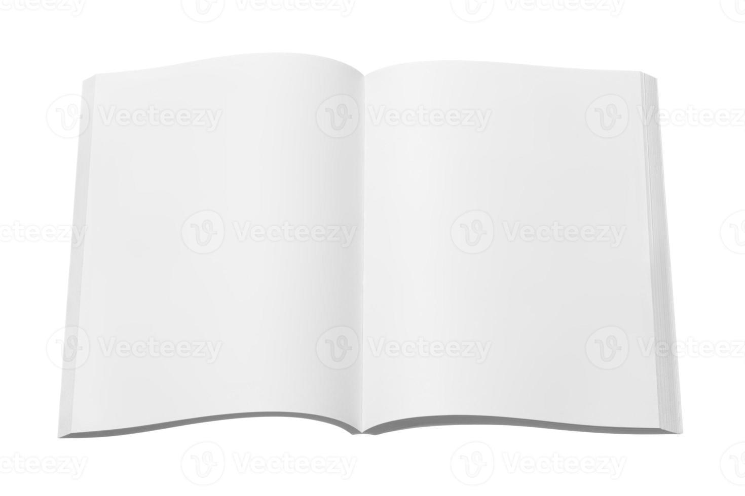 leere Zeitschrift oder Buch foto