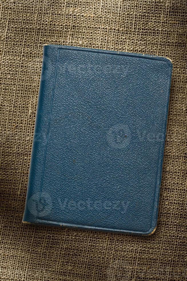 dunkelblaues Notizbuch foto