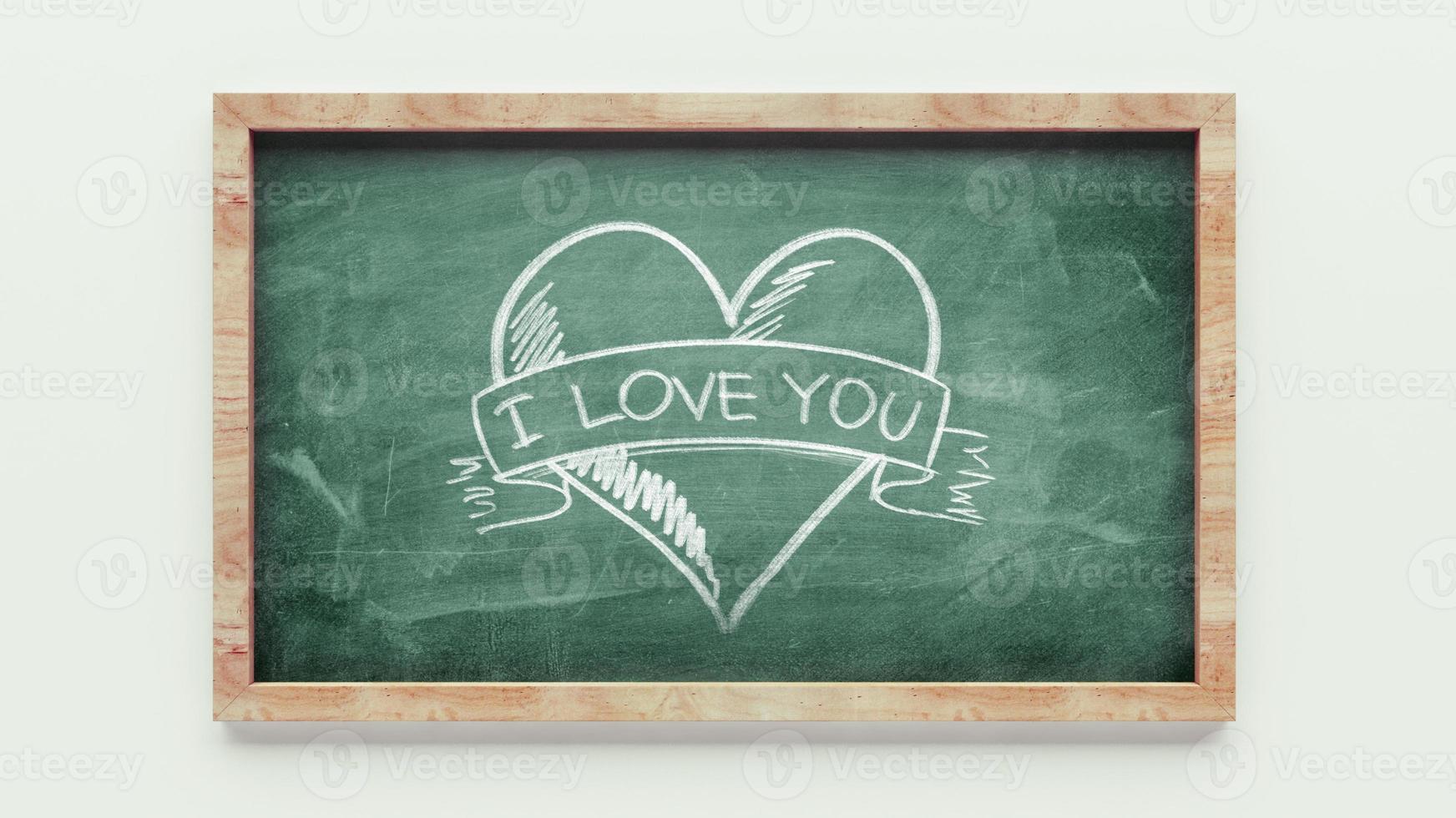 Liebe Tafelzeichnung foto