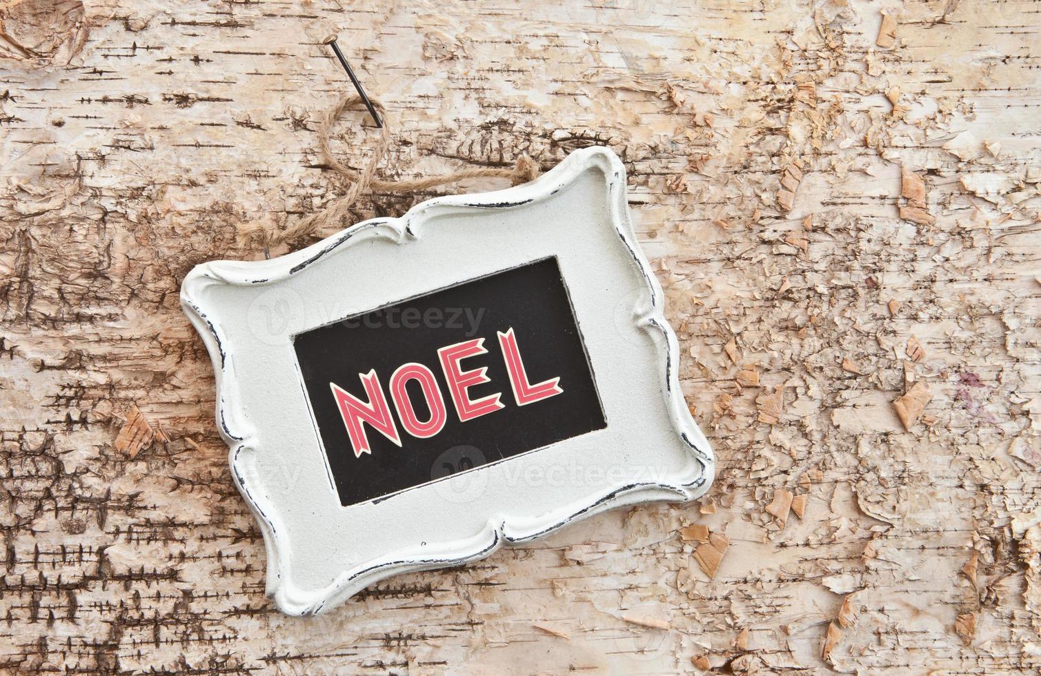 Vintage Tafel auf rustikalem Holz foto