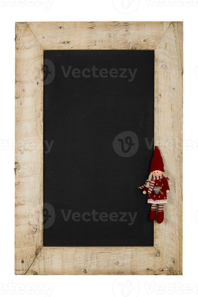 Frohe Weihnachten Neujahrstafel Tafel zurückgefordert Holz foto