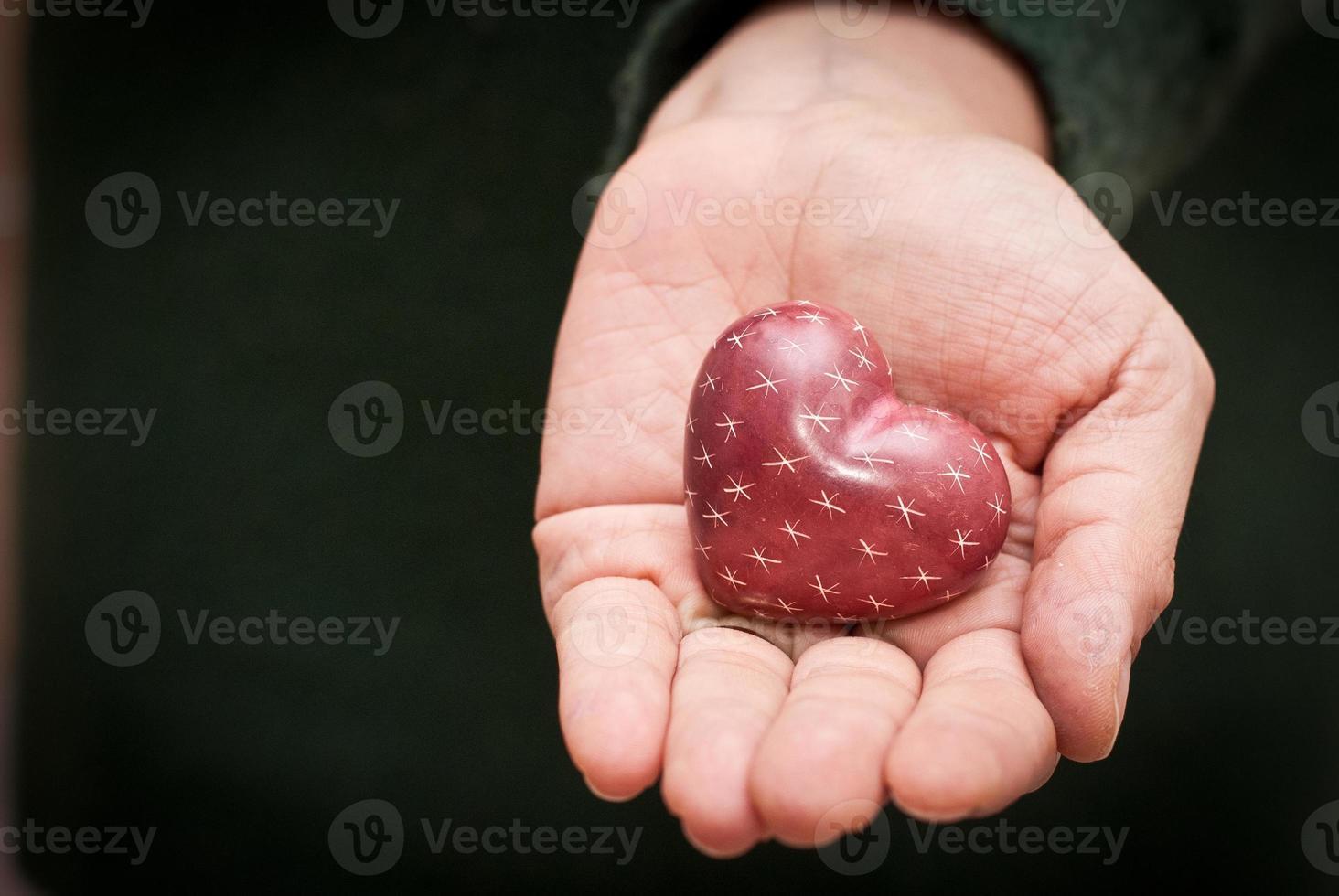 cuore in mano foto