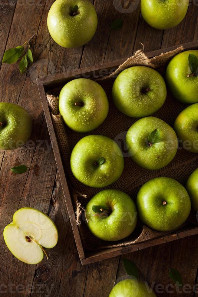 grüner Granny Smith Apfel foto