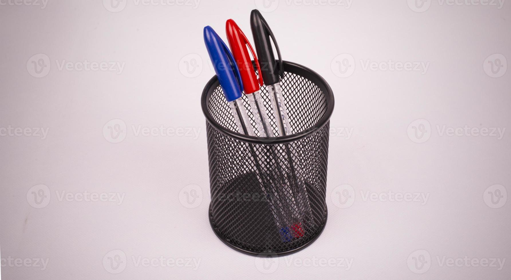 Buntstifte mit Bleistift foto