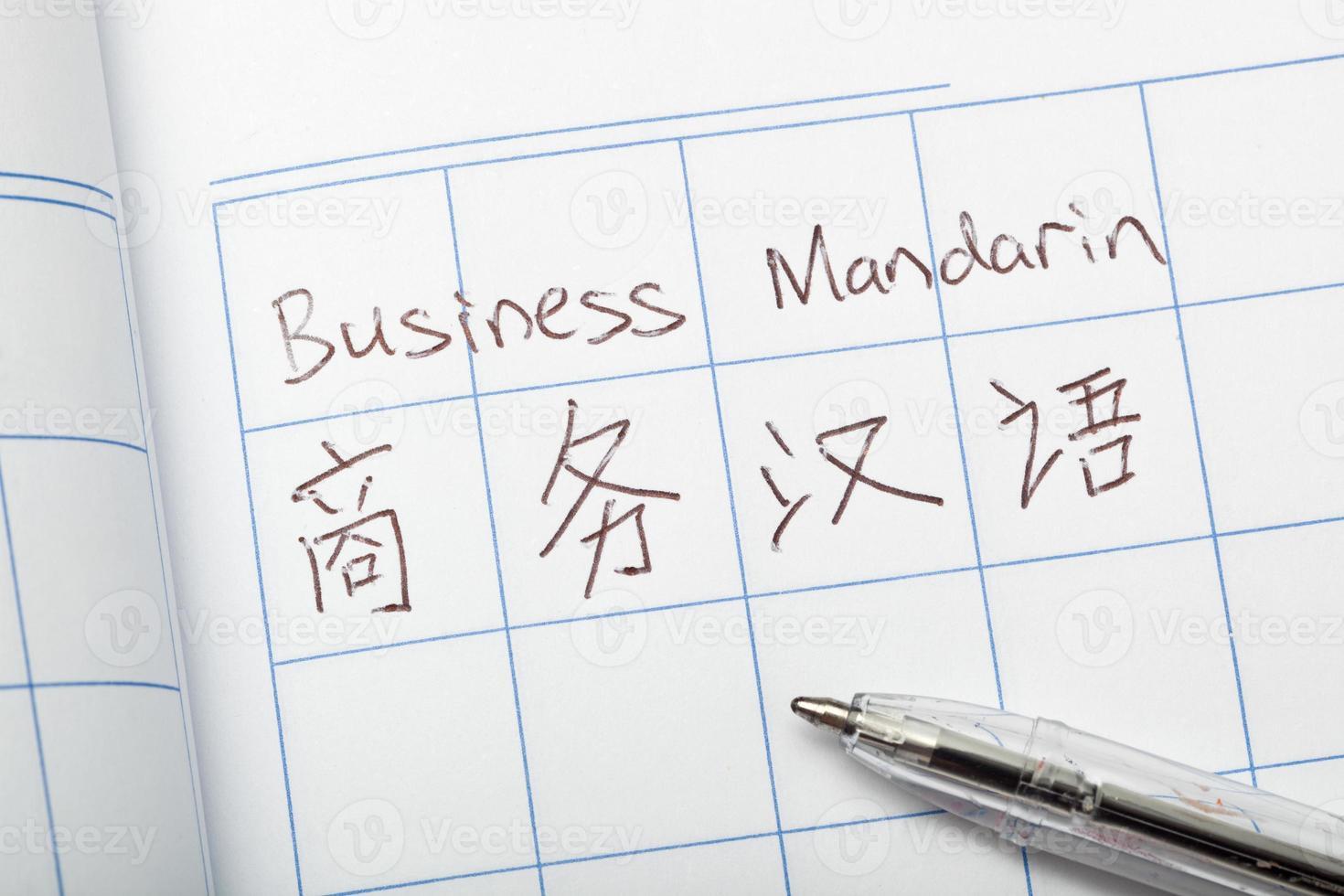 Geschäftsmandarin foto