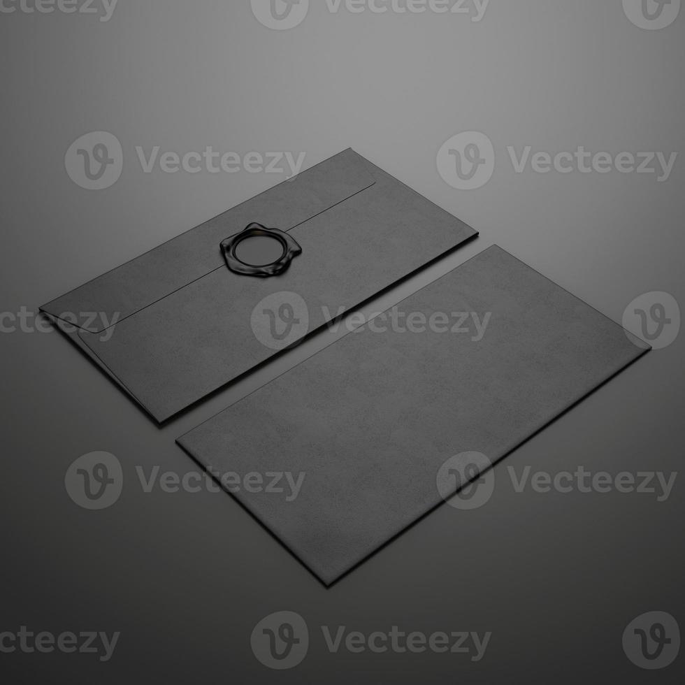 zwei schwarze Umschläge foto