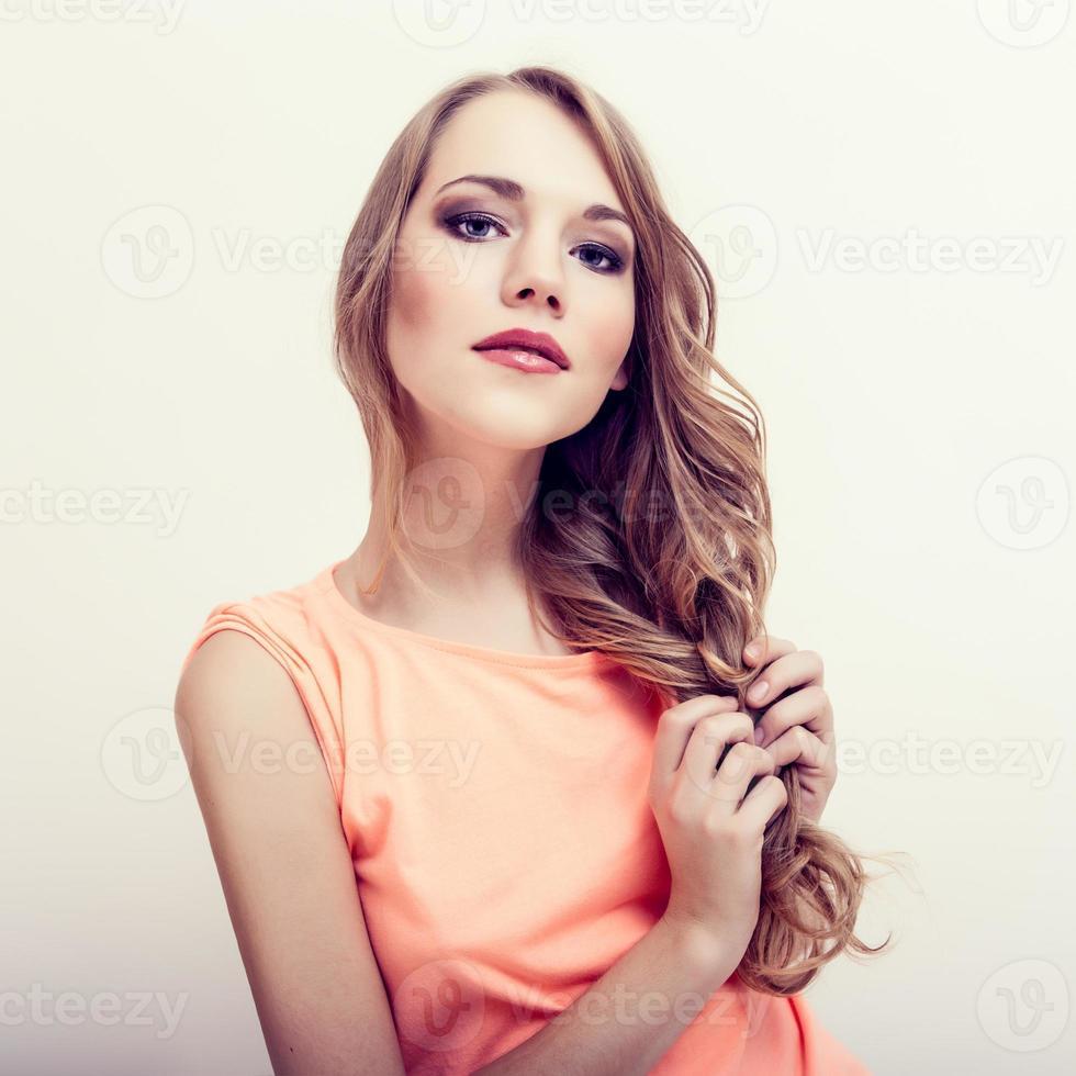 Sinnlichkeit schöne blonde Frau foto