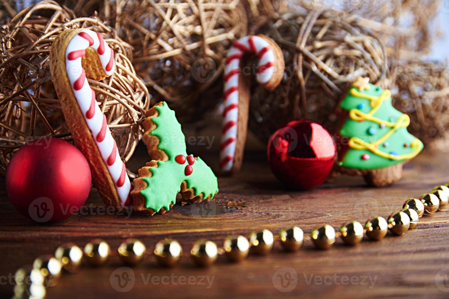 Weihnachts-Lebkuchen-Karte foto
