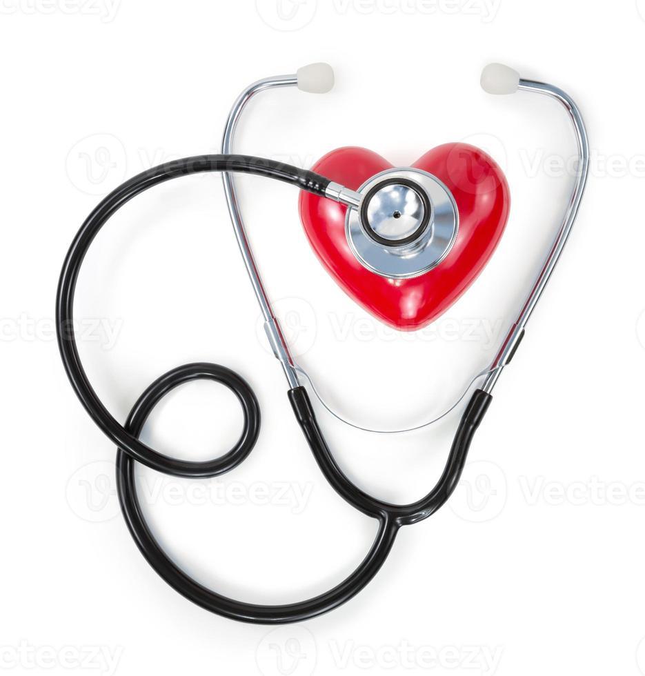 Stethoskop auf rotem Herzen foto
