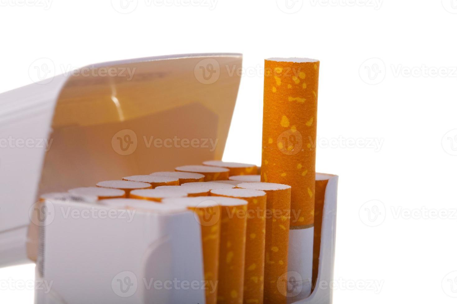 Päckchen Zigaretten in Nahaufnahme foto