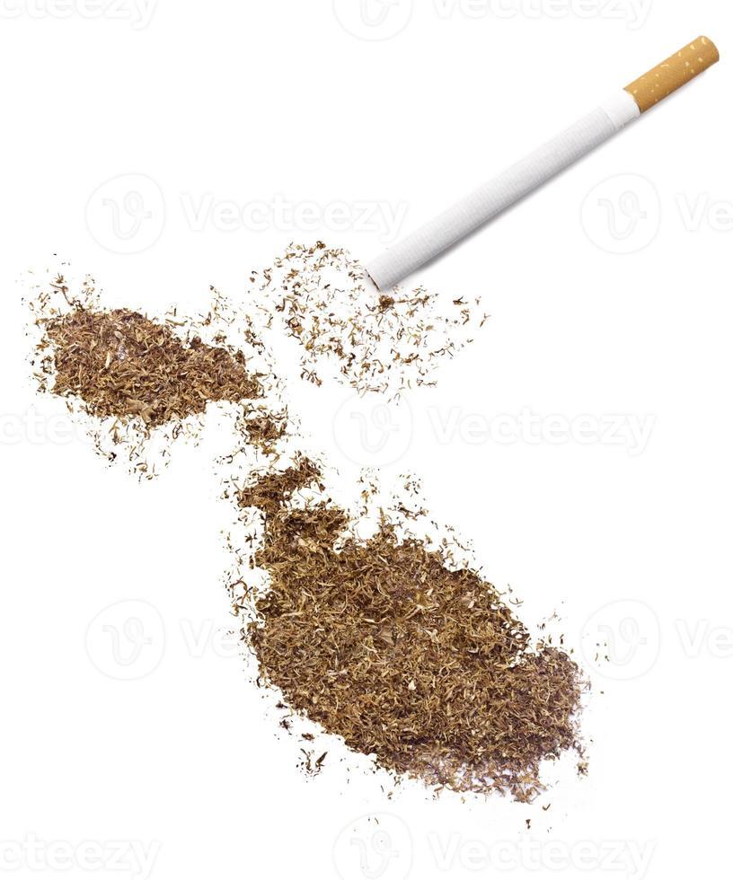 Zigarette und Tabak in Malta-Form (Serie) foto