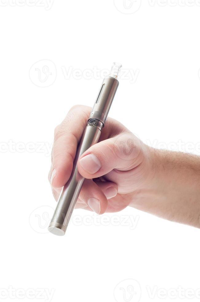 silberne elektronische Zigarette foto