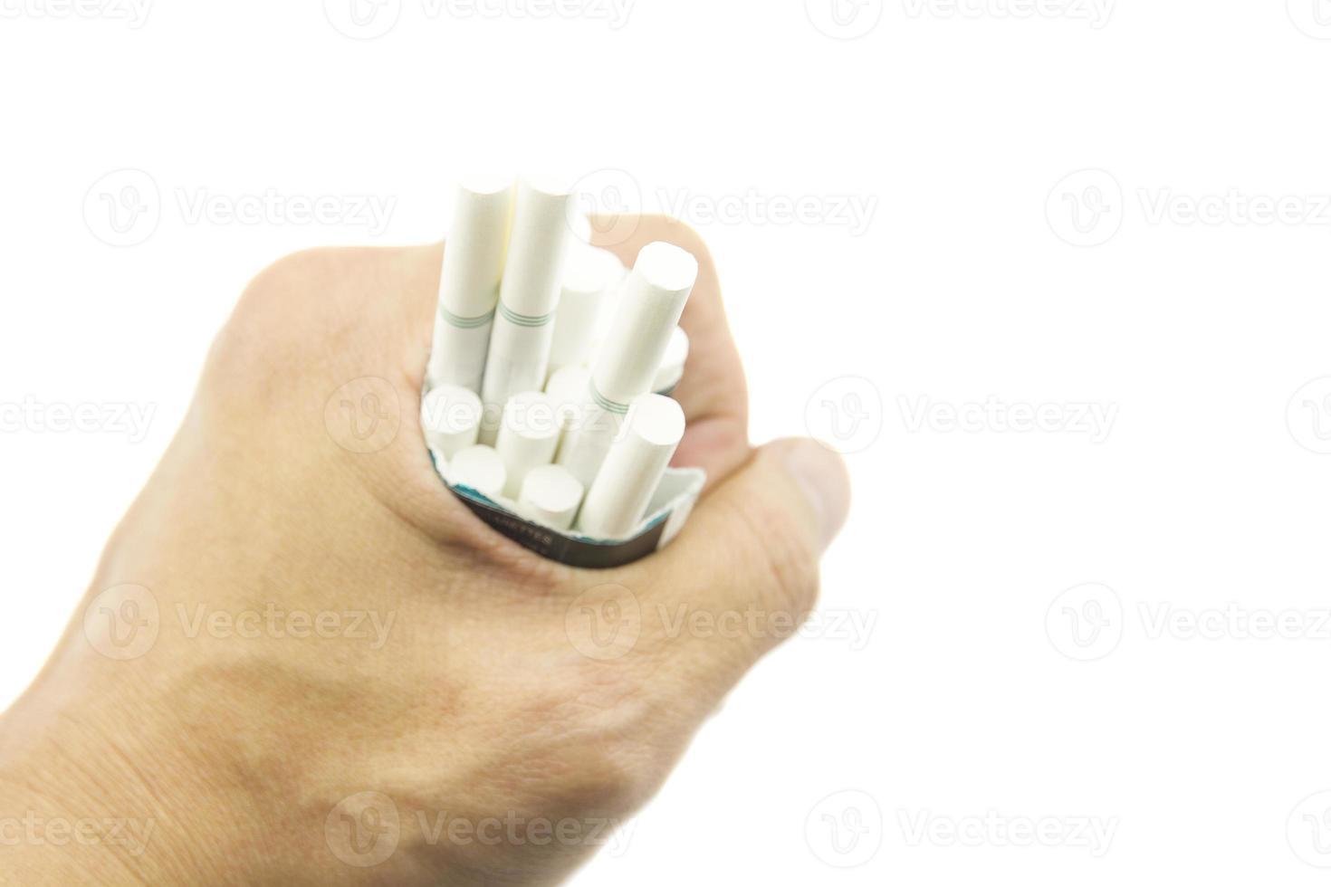Hör auf mit der Zigarette foto