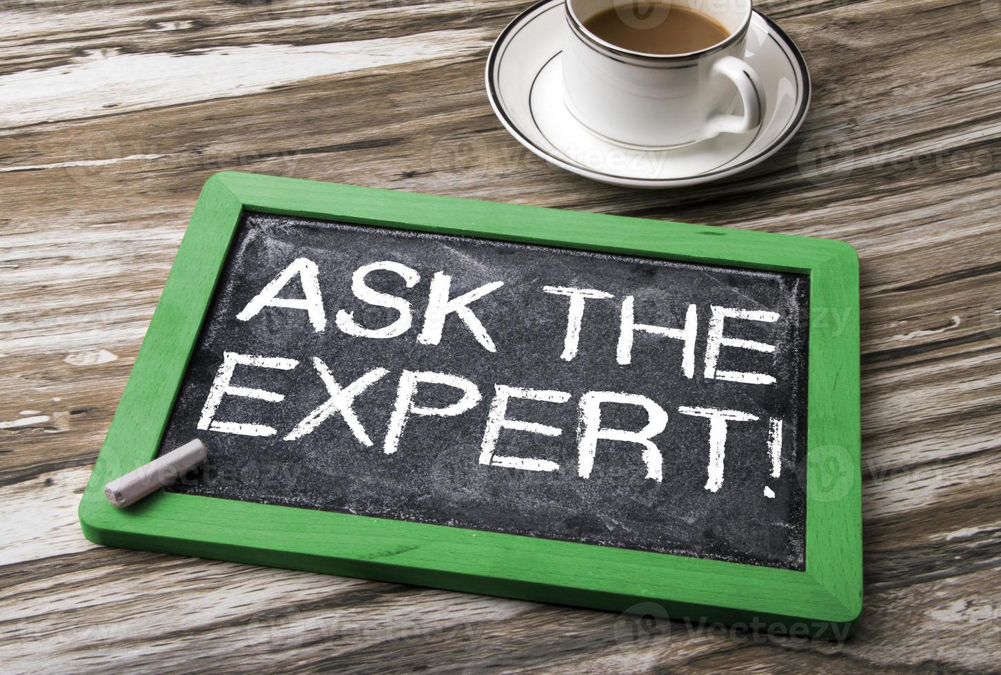 Fragen Sie das Expertenkonzept foto