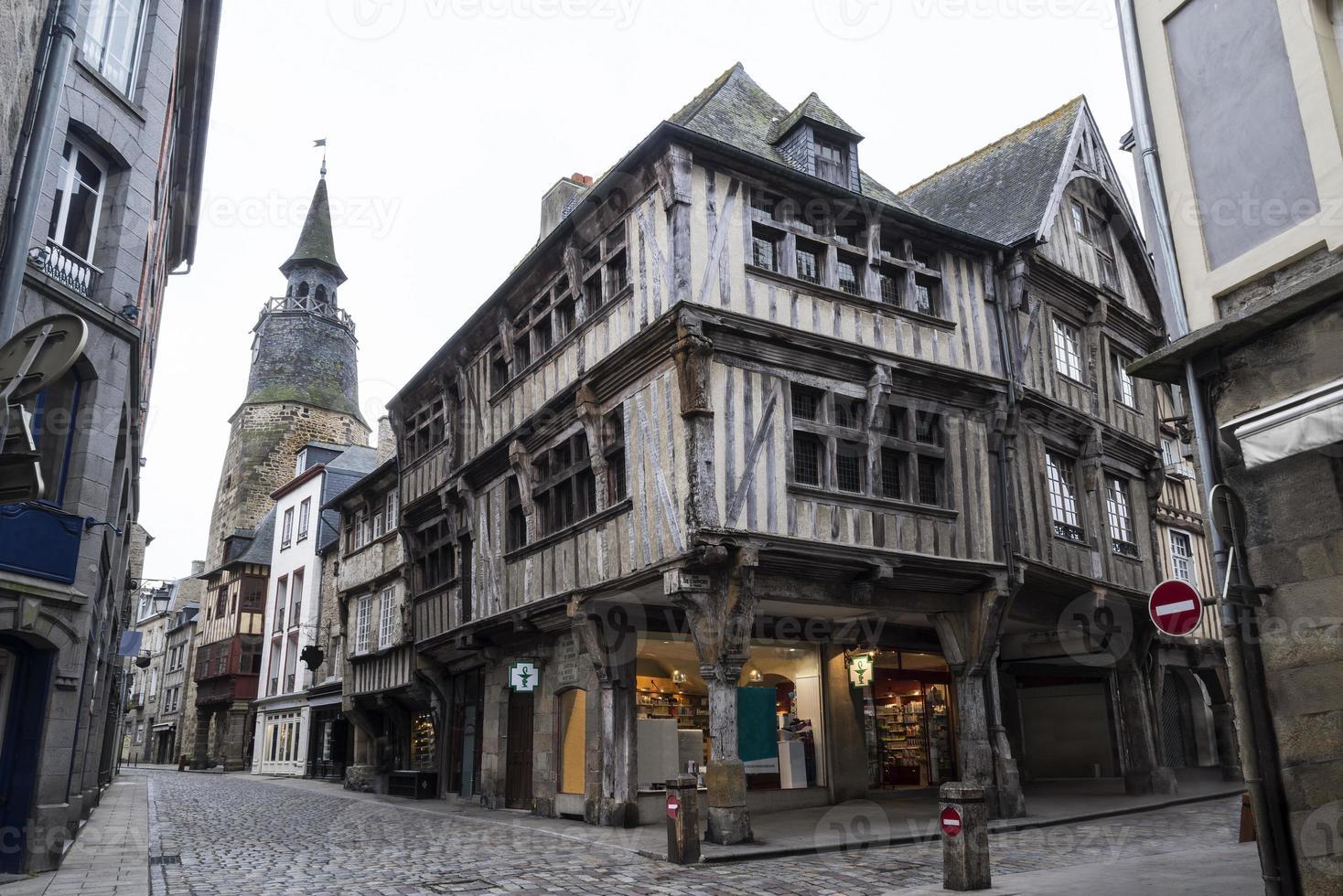 mittelalterliche Konstruktionen in der Bretagne, Frankreich foto
